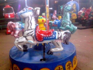 Three Horse Merry Go Round | Theme Park Manufacturer bangladesh