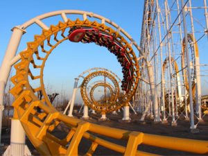 6 Loop Roller Coaster Ride For Sale
